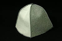 Арт.22008 Шапочка для сауны одноразовая (треуголка), серо-белая