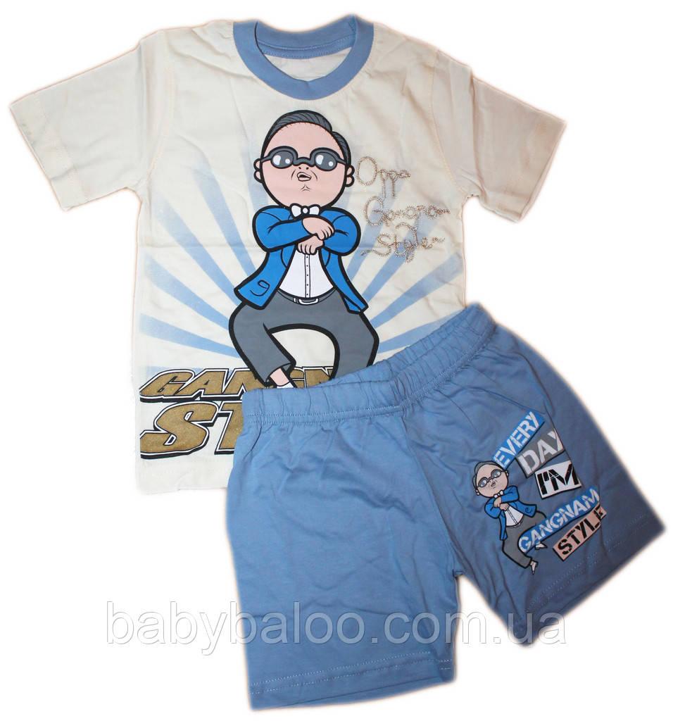 Костюм детский на мальчик  из футболки+шорт (рост от 92см до 110 см)