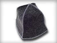 Шапочка для сауны одноразовая (треуголка), серая