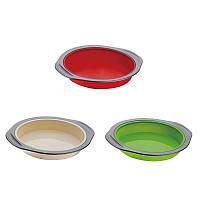 Силиконовая форма для выпекания peterhof ph-12852-gr круглая, зеленая