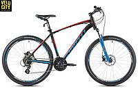 """Велосипед Spelli 27,5"""" SX-4700 650B 2017 черно-голубой"""