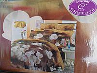 """Постельное белье """"East comfort""""3D, 220х240,двухспальное,цветочный принт"""