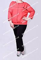 Спортивный костюм с кофтой для женщин (батал)