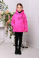 Детская куртка на девочек с бантиком