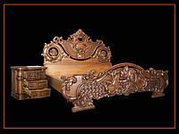 Кровать резная VERONA с двумя тумбами