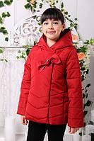Куртка детская для девочек красного цвета