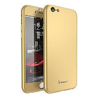 Чехол Ipaky для Iphone 6 / 6s бампер + стекло 100% оригинальный gold 360