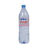 Вода негазированная Evian / Эвиан, вода без газа 1,5л пет