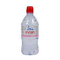 Вода минеральная  негазированная Evian / Эвиан, 0,75л ПЕТ спорт