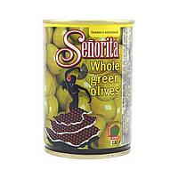 Оливки с косточкой Senorita / Сеньорита, 280г, калибр 300/320, ж/б банка, оливки Испания