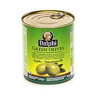Оливки с косточкой Delphi / Делфи крупные, Супер Мамут, 850мл ж/б банка