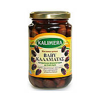 Маслины с косточкой Каламата / Каламатас Baby,  Kalimera / Калимера, 360гр, маслины в стекле