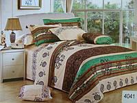 Сатиновое постельное белье евро ELWAY 4041