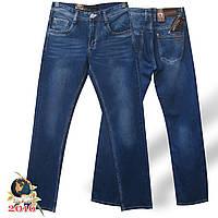 Фирменные мужские классические джинсы тёмно-голубого цвета Molake коттон.
