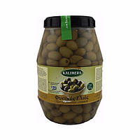 Зеленые оливки Kalimera / Калимера с косточками, крупные, 3,3л, 141/160 сухой вес 2кг, оливки Греция