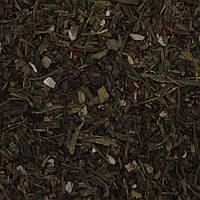 """Чай зеленый """"Сакура"""" (Сенча, Лунг Чин, листья земляники, кусочки вишни)"""