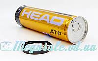 М'яч для великого тенісу Head ATP 570314: 4 м'ячі у вакуумній упаковці