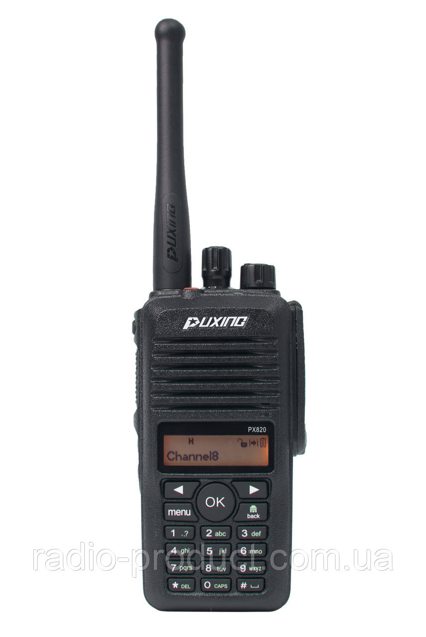 Puxing PX-820 UHF, IP67, DMR + Analog, радиостанция