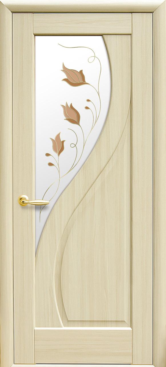 Межкомнатные двери Новый Стиль Прима стекло с рисунком