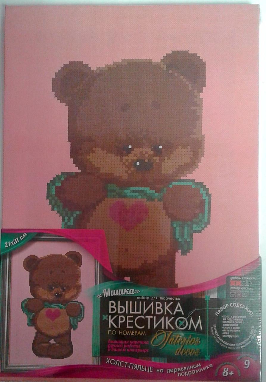 Вышивка крестиком По номерам: Мишка VK-03-02 Danko-Toys Украина