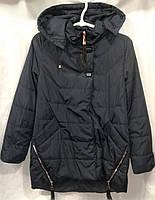 Куртка парка демисезонная для девочек 9-13 лет,темно синяя