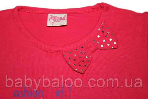 Стильная футболка детская Собачка бант (рост от 92см до 110 см) , фото 2