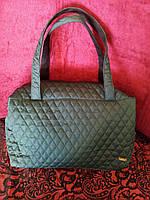 Дутая сумка женская зеленая, фото 1