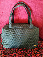 Дутая сумка женская зеленая