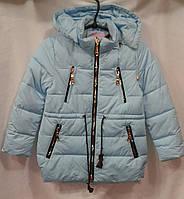 Куртка  демисезонная для девочки 6-10 лет,голубая