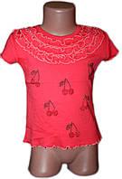 """Красивая детская футболка для девочки """"Вишенка-камни"""" (рост от 92 до 110 см)"""