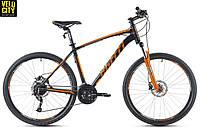 "Велосипед Spelli 27,5"" SX-5700 650B 2017 черно-оранжевый"