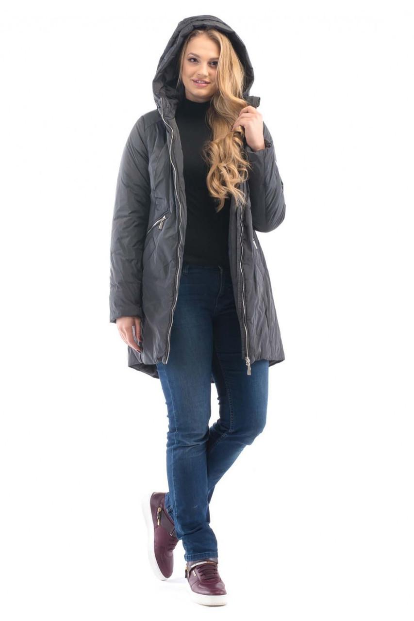 7b5fb035856 Женское демисезонное пальто больших размеров - Интернет-магазин