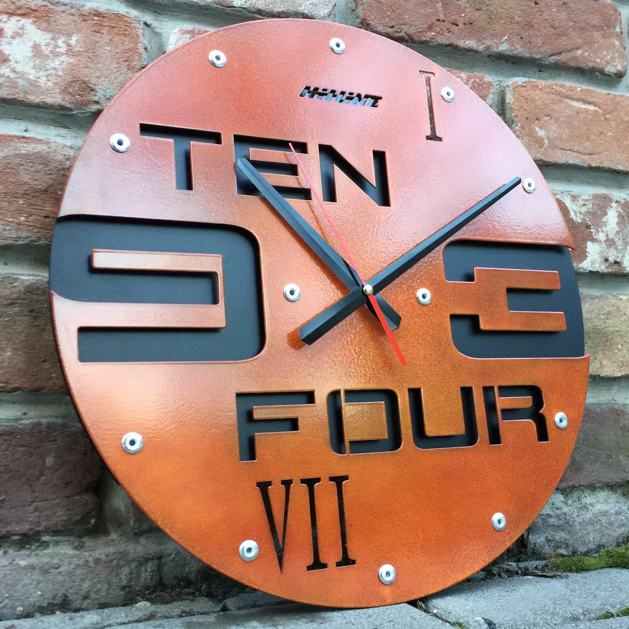 Часы настенные Ten-four-rust (400х400х35 мм) [Металл, Открытые]