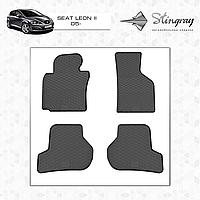 Коврики резиновые в салон Seat Leon II с 2005 (4шт) Stingray