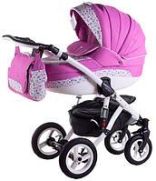 Детская коляска универсальная 2 в 1 Aspena 50% кожа 842S Adamex