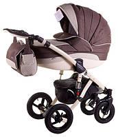 Детская коляска универсальная 2 в 1 Aspena 50% кожа 836S Adamex