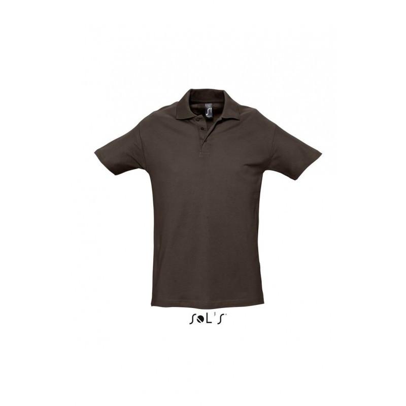 Рубашка поло шоколадная  SOL'S SPRING II, размеры от S до 5XL, плотность 210 г/м2