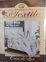 """Комплект постельного белья """"Casa de Lux Textile"""", семейка, 200х220, ветки сакуры"""