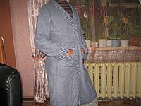 Халат мужской махра с начесом серый р.50-52