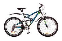 "Велосипед Discovery Canyon 26"" AM2 14G Vbr St рама 19"" 2017 (черно-сине-зеленый)"