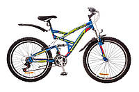 "Велосипед Discovery Canyon 26"" AM2 14G Vbr St рама 19"" 2017 (сине-зелено-красный)"