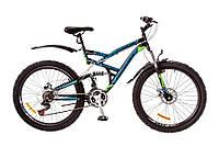 "Велосипед Discovery Canyon 26"" AM2 14G DD St рама 19"" 2017 (черно-сине-зеленый)"