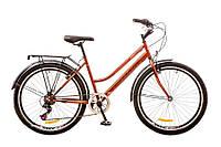 "Велосипед Discovery Prestige Woman 26"" 14G Vbr St рама 17"" 2017 (коричнево-оранжевый)"
