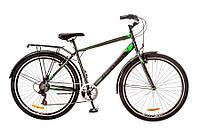 "Велосипед Discovery Prestige Man 29""14G Vbr St  рама 19"" 2017 (серо-черно-зеленый)"