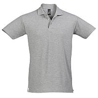 Рубашка поло серая- меланж  SOL'S SPRING II, размеры от S до 5XL, плотность 210 г/м2