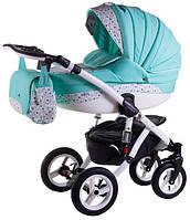 Детская коляска универсальная 2 в 1 Aspena 50% кожа 880S Adamex