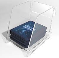 Лоток для колоды карт  Card deck holder tray 4 детали из акрила 3мм инструкция по сборке
