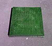 Люк GARDEN квадратный, зеленый, 1,5т