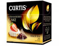Чай Curtis Strawberry cake (клубничный пирог), 1,7 Г*20 ПАК. В ПИРАМИДКАХ