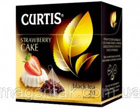 Чай Curtis Strawberry cake (клубничный пирог), 1,7 Г*20 ПАК. В ПИРАМИДКАХ, фото 2